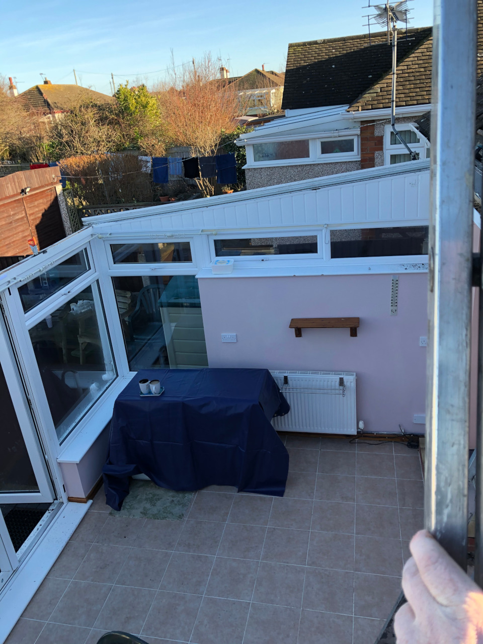 Conservatory new thermal insulation.