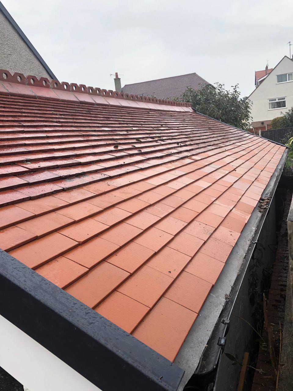 Colwyn Bay tiled roof repair.