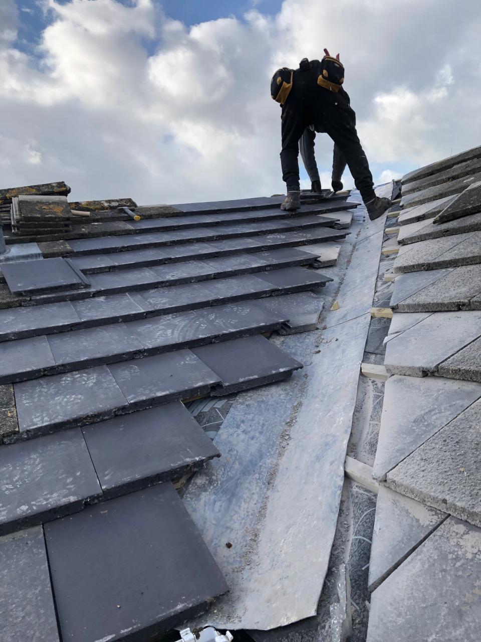 Llandudno tiled roof repair.