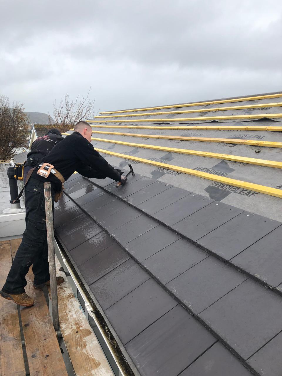 Llandudno re-roof of house.